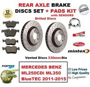 Pour Mercedes ML250CDi ML350 Bluetec 2011-2015 Arrière Plaquettes de Frein