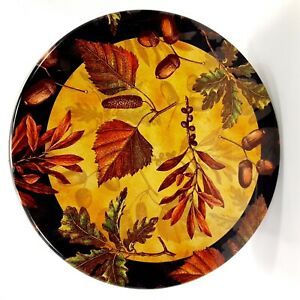 Fall-Autumn-Leaves-Acorns-Collectible-Tin-Round-6-3-4-034-Storage-Container