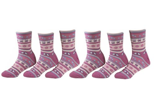 Country Kids Girl/'s 3-Pairs Flutterby Candy Crew Socks Sz 8-9; Fits Shoe 12-6