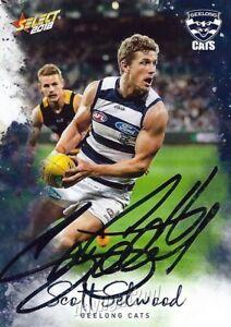 Signed-2018-GEELONG-CATS-AFL-Card-SCOTT-SELWOOD