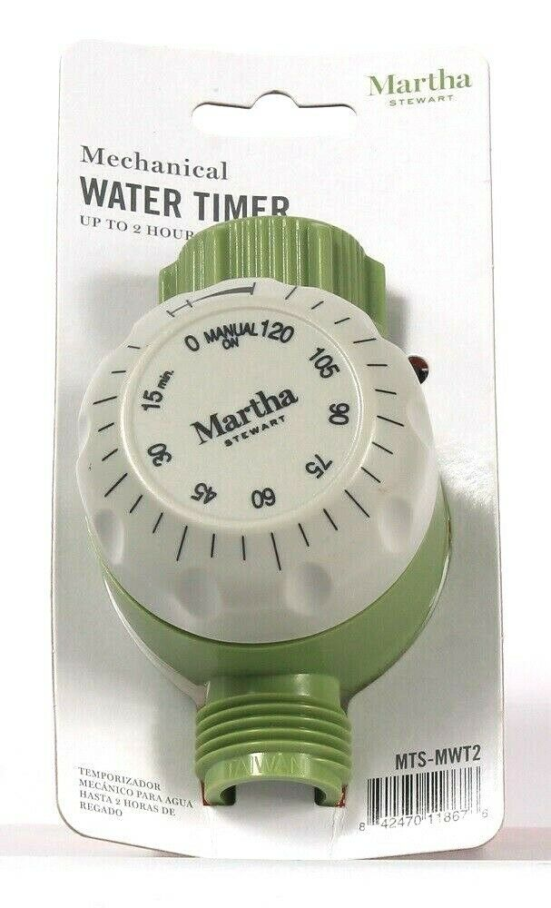 1 Count Martha Stewart Mechanical Water Timer Up To 2 Hours Of Watering