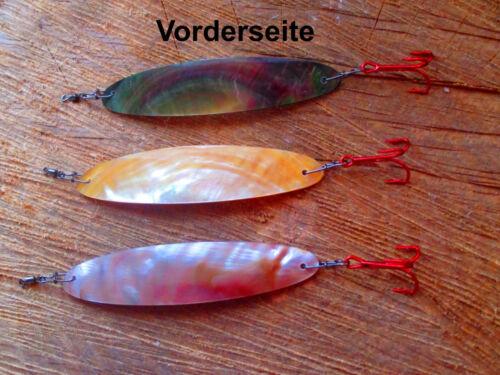 TOP Premium Perlmuttblinker 75 mm Länge Schleppfischen Perlmuttspangen Trolling