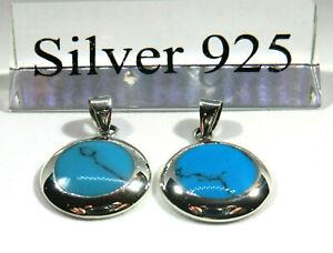 kleiner-Tuerkis-Howlith-Anhaenger-925-Silber-mit-Lederband-Silberkette-40cm-Neu