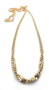 Necklace-18-034-Multi-Strand-Chain-With-A-Twist-Yellow-Gold-Plated-Christmas-Gift