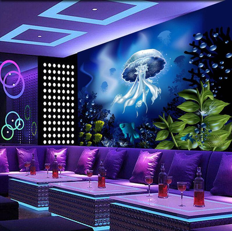 3D Mysterious Jellyfish 86 Wall Paper Murals Wall Print Wall Wallpaper Mural AU