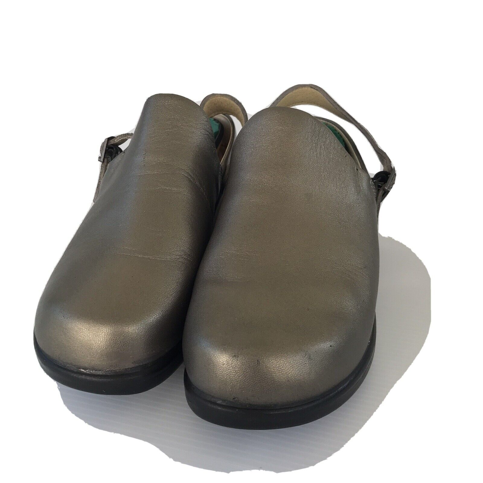 Ana-Tech Copper Green Leather Shoes 41clogs Pre Owned Professional Shoes Size 8.