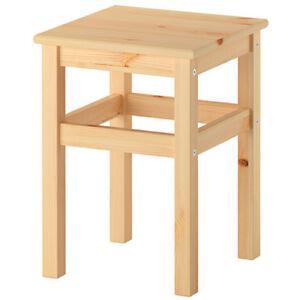 ikea oddvar hocker holzhocker schemel holzschemel 33x33x45cm massive kiefer neu ebay. Black Bedroom Furniture Sets. Home Design Ideas