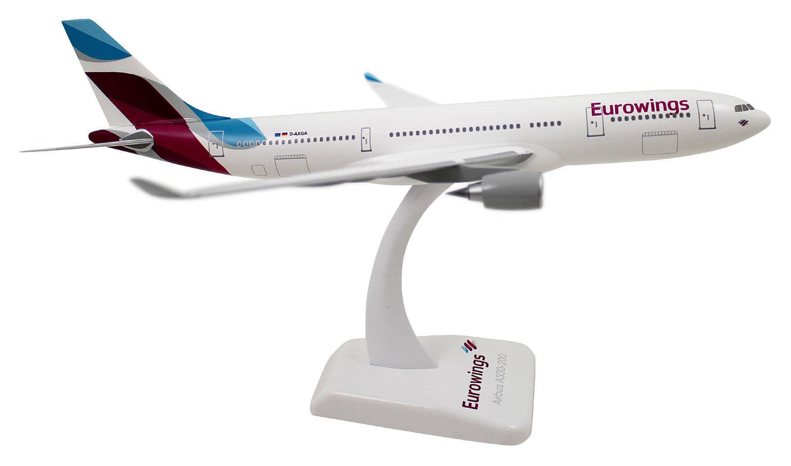 Eurowings Airbus a330-200 1 200 limox wings ew02 modèle d'avion NEUF D-axga a330