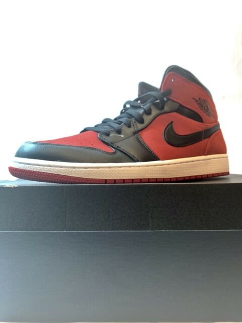 new list promo code pre order AIR JORDAN MID 1 MENS SHOES BANNED [SIZE 13] BLACK/GYM RED/WHITE 554724-610