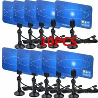 Lot 10 Indoor Tv Antenna Hdtv Dtv Box Ready Hd Vhf Uhf High Gain Flat Design Ub