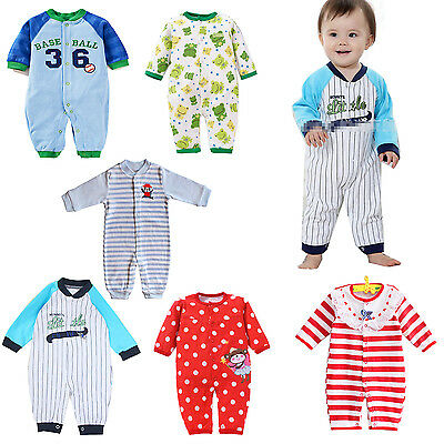 New 6 Styles Newborn Girls Boys Clothes Baby Outfit Infant Romper Clothes 0-12M