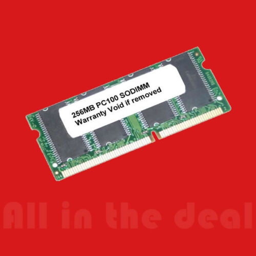 256MB SD RAM SODIMM NON-ECC PC100 100MHz 100 MHz SDRam Memory
