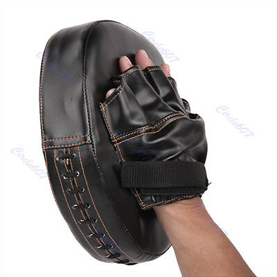 Boxing Mitt Training Target Focus Punch Pad Glove Karate Muay Thai Kick MMA