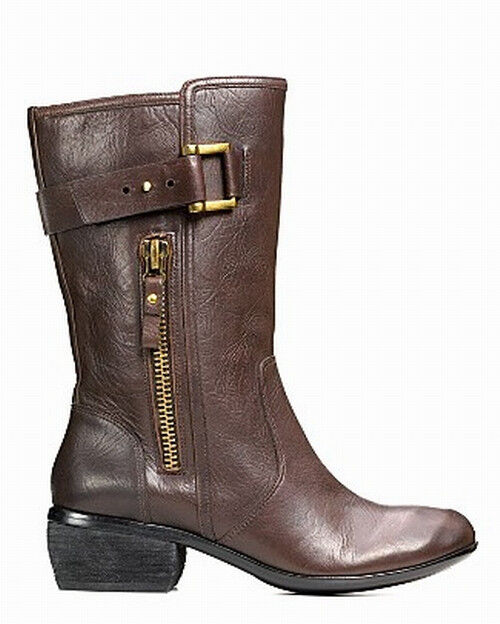 Modern Vintage NIB  350  Buckled Leather Riding Boots    8