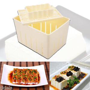 1-Set-Tofu-Maker-Press-Mold-Kit-Cheese-Cloth-Soy-Pressing-Plastic-Mould-Tools