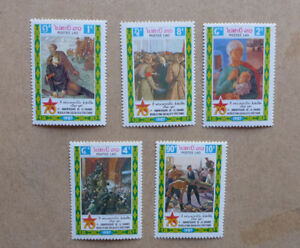 1987-LAOS-70TH-ANNIV-RUSSIAN-REVOLUTION-SET-OF-5-MINT-STAMPS-MNH