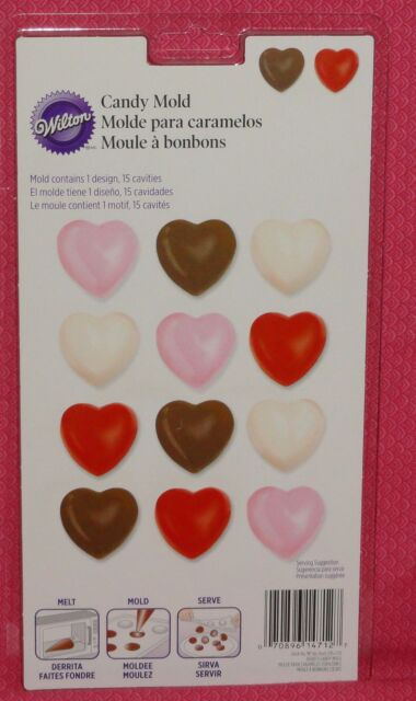 Wilton Single Cookie Candy Mold with Hearts Design Valentine/'s Day Chocolate