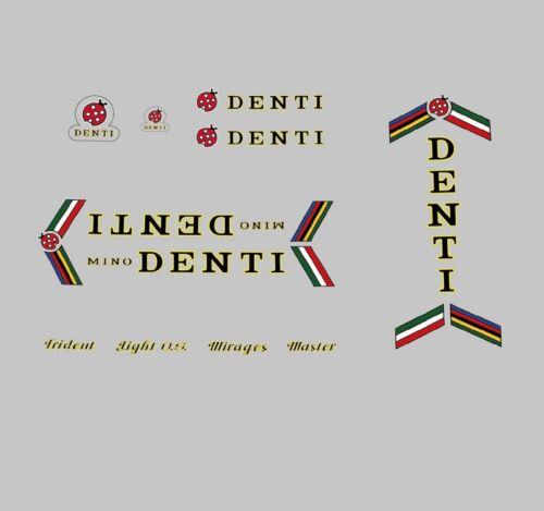 Transfers Mino Denti Bicycle Frame Decals Stickers n.102