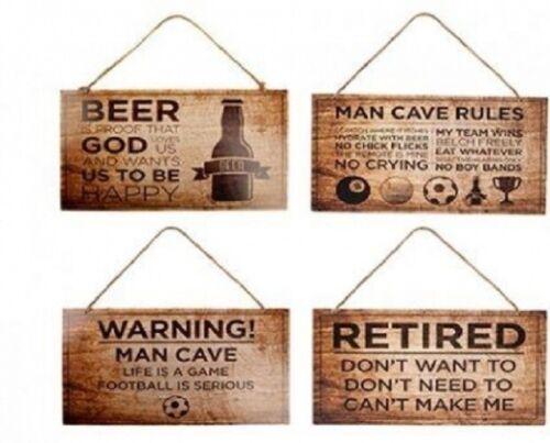 Nouveauté Homme Cave plaques Bar et Pub signes Home Bar Décor Cadeau Fête des Pères-Signes