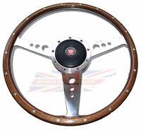 13 Wood Steering Wheel W/ Adaptor Hub Jaguar Xke E-type Moto-lita