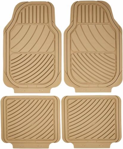 Tapis de sol voiture caoutchouc couleur beige adaptable sur mesure Carat