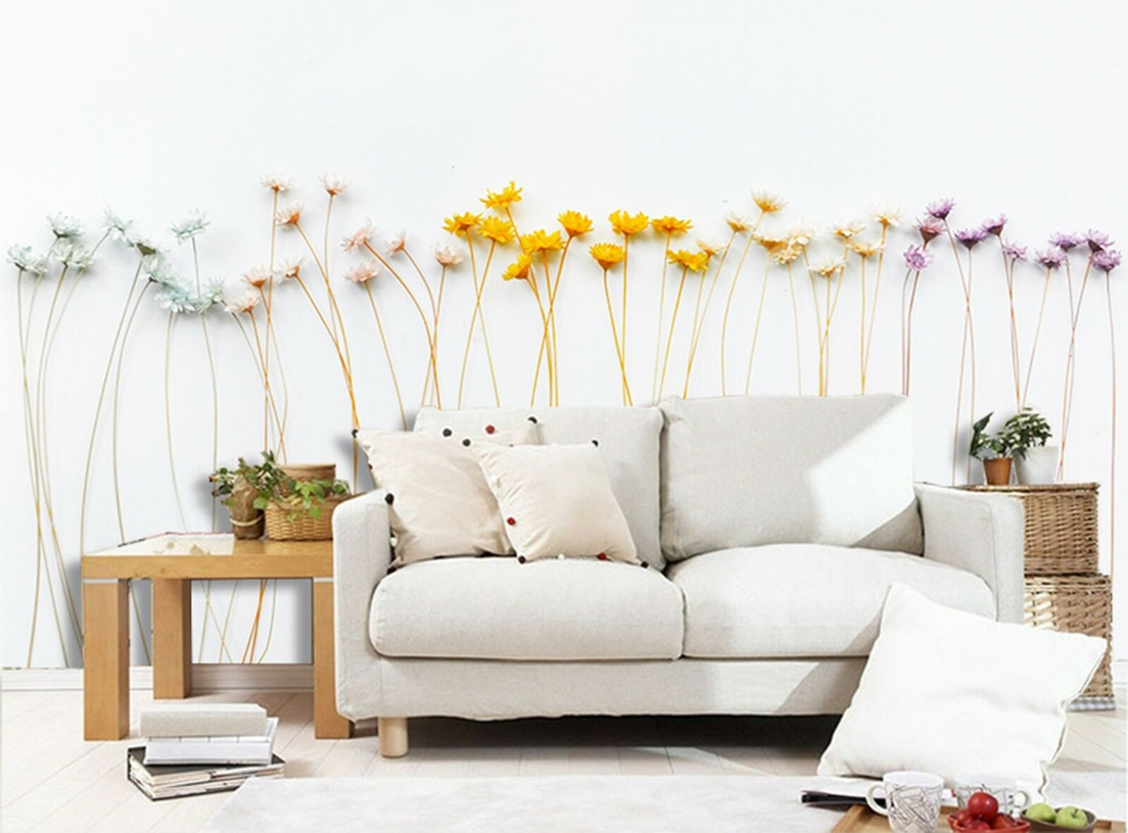 3D color Dried flowers Wall Paper Print Decal Wall Wall Wall Deco Indoor wall Mural 768aa9