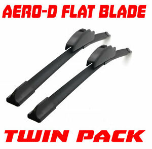 24/18 Aero-D Flat Windscreen Wipers Blades Washer System For Peugeot 1007 05+