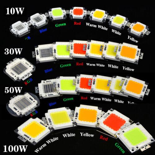 Super Bright SMD LED Chip Lamp 10W 20W 50W 100W High Power COB Bulb Bead Light