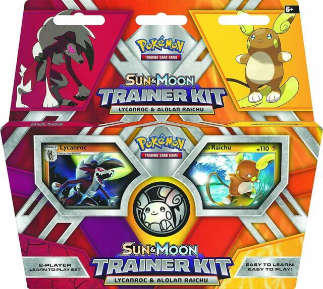 Pokemon TCG: Sun & Moon Trainer Kit Lycanroc & Alolan Raichu Card Game