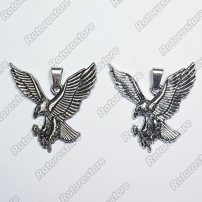 Falcon Eagle Bird Necklace - Men's Womens Stainless Steel Pendant - NEW
