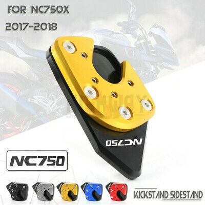 Motorcycle Foot Side Stand Extension Kickstand Pad Plate Anti-slip Kickstand Pad for NC750X 17-18 Red
