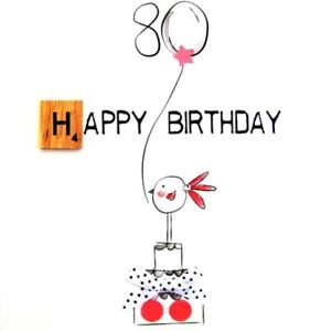 Image Is Loading 80th Birthday Bexyboo Scrabbley Neon Card Handmade