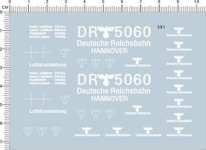 HO-1-87-Scale-WWII-Deutsche-Reichsbahn-Markings-Railway-Model-Water-Slide-Decal