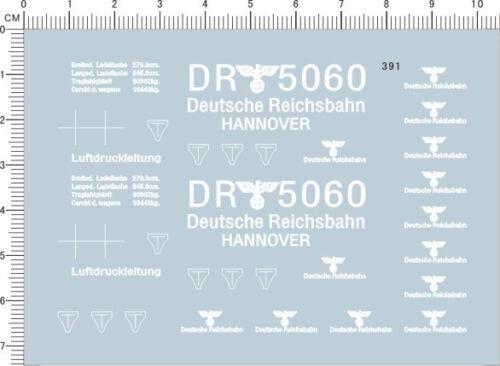 HO 1:87 Scale WWII Deutsche Reichsbahn Markings Railway Model Water Slide Decal