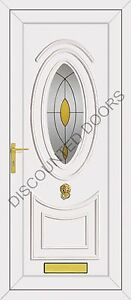 Jefferson One Pearl Glazed UPVC Front Door, Frame & Letterbox
