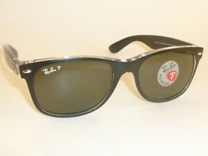6211d352fbb RAY BAN New WAYFARER Black On Transparent RB 2132 6052 58 Polarized ...