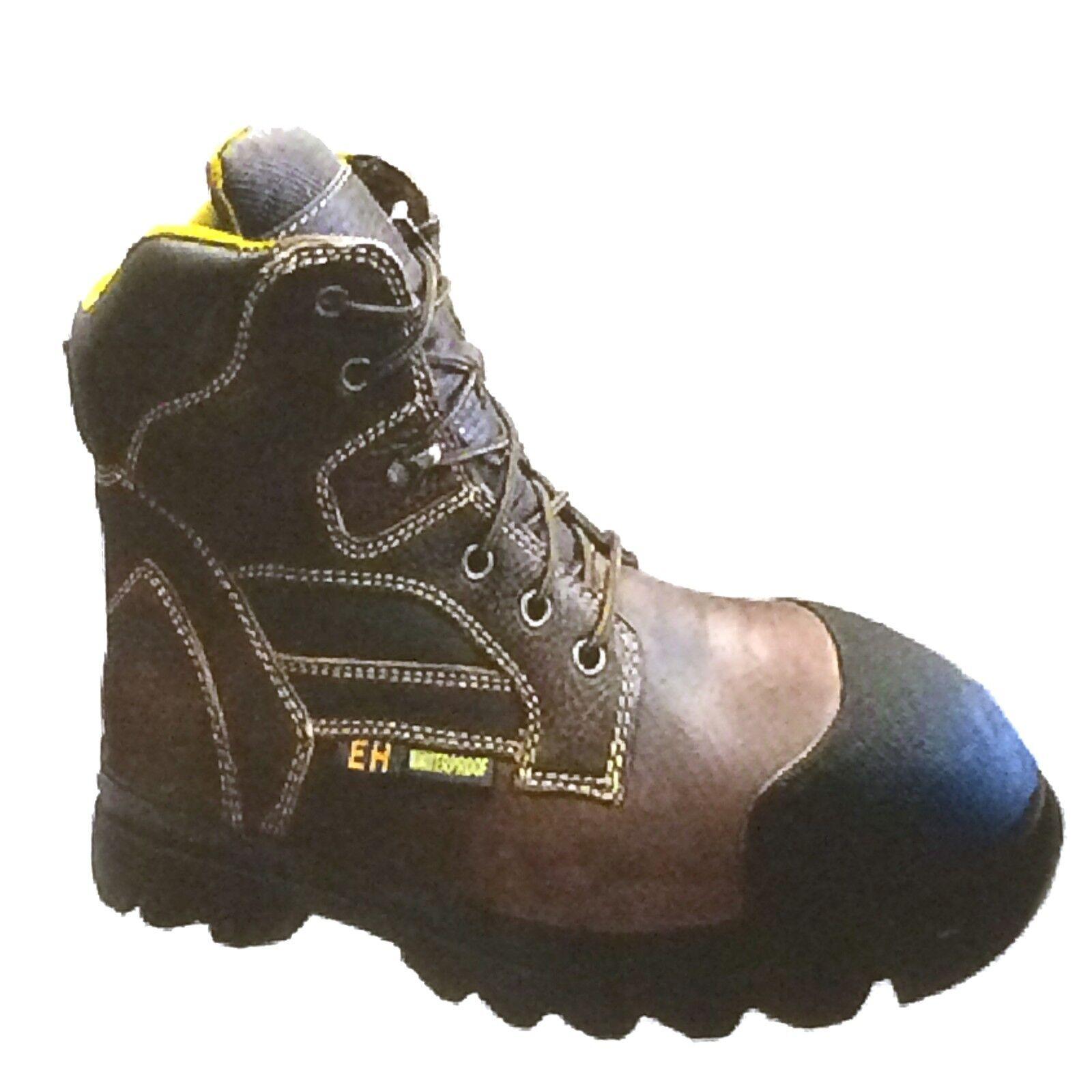 9767 Tecs, marron, 6  Huilé Cuir Hommes (Steel Toe) Work démarrage