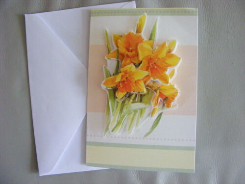 Handmade 3D Cards With Envelope Flower Theme Pick From List