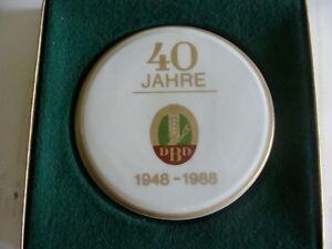 Porzellan Medaille 40 Jahre Deutsche Bauernpartei DBD 1988 100mm - Deutschland - Porzellan Medaille 40 Jahre Deutsche Bauernpartei DBD 1988 100mm - Deutschland