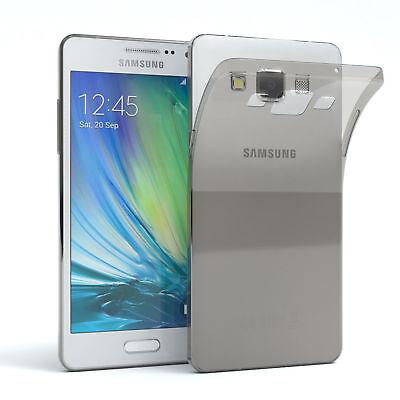 Ultra Slim Cover für Galaxy A5 (2015) Case Silikon Hülle Transparent Hellgrau