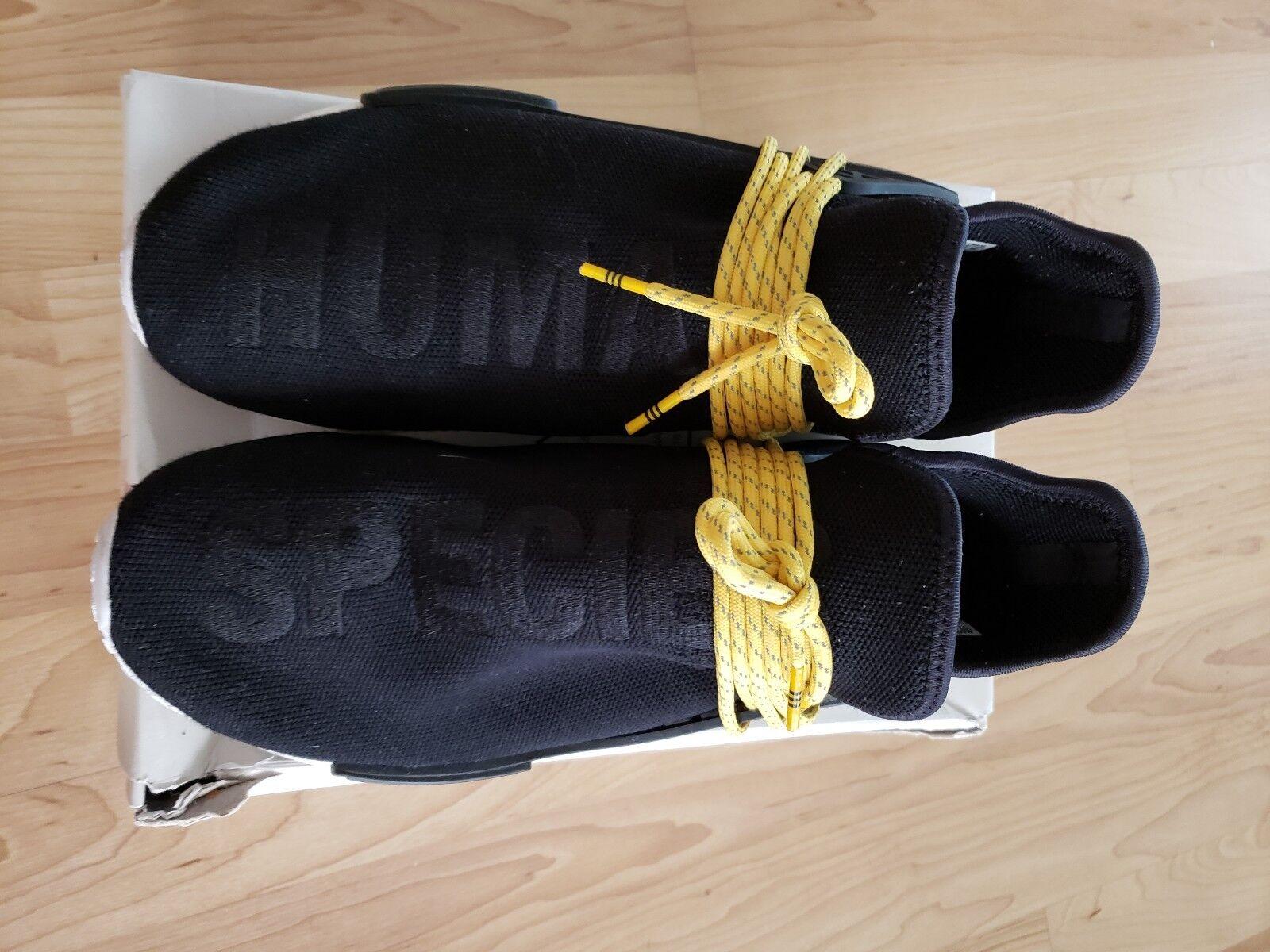 Adidas (BB3068) NMD Human Race Black Human Species Sz 11 Lightly Worn w  Box