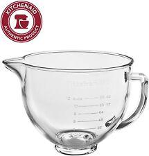 KitchenAid 5-Quart Glass Bowl With Lid K5GB Fits Tilt Artisan Models