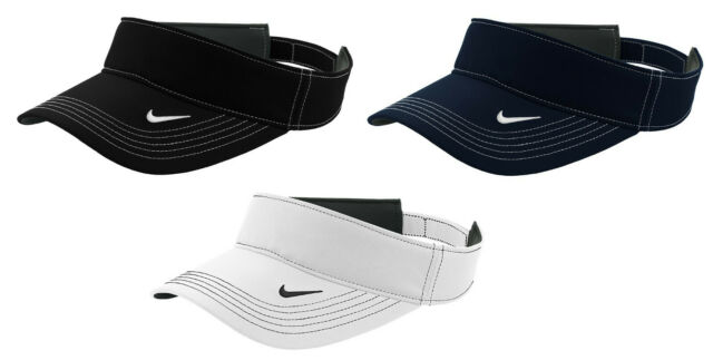 70691f366 Nike Dri-FIT Swoosh Visor Men's Adjustable Strapback Cap Authentic Hat Golf