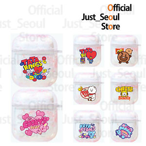 Official BTS BT21 Aqua Glitter Airpods Case Cover Pink Color+Freebies+Tracking