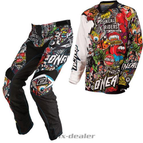 O /'Neal Mayhem Crank Multi Pantaloni Jersey Maglia MX Motocross KOMBO STATION WAGON