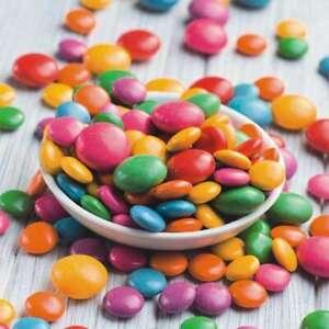 20-Serviettes-Kinderfeier-Assiette-Plein-Colore-Dragee-Bonbons-33x33-CM
