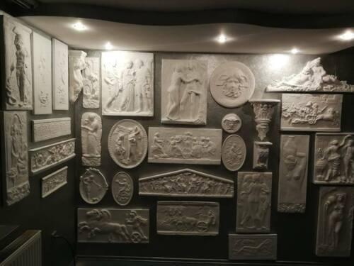 Pegasus Skulptur Griechischen Bas Relief Griechisch Greek Stuck gips Stucco Lux