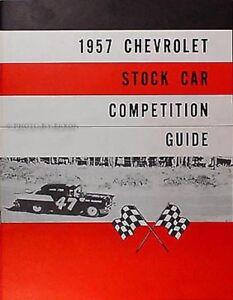 1957 Chevrolet Mode D 'em Ploi Stock-car Livre 57 Chevy Course Compétition Guide R1auosuc-08002943-774086205