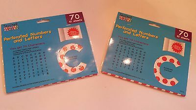 Set of 140 Teacher Building Blocks Perforated Numbers and Letters Red Polka Dots