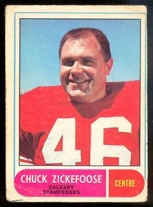 1968-OPC-O-PEE-CHEE-CFL-75-CHUCK-ZICKEFOOSE-VG-CALGARY-STAMPEDERS-KANSAS-STATE